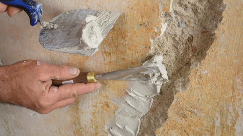 1.) Vegyes falazatok, tapétázott felületek lefestése natúrfestékkel