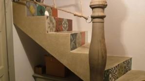 Tadelakt lépcsők